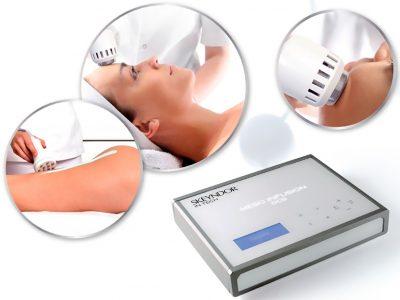 Appareil pour des thérapies esthétiques, indolores, courant d'aiguilles virtuelles. Meso infusion distinct